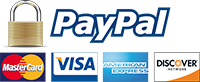 We accept PayPal & Major Credit Cards